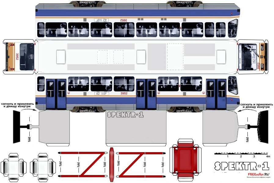 Схема коробки в виде автобуса.
