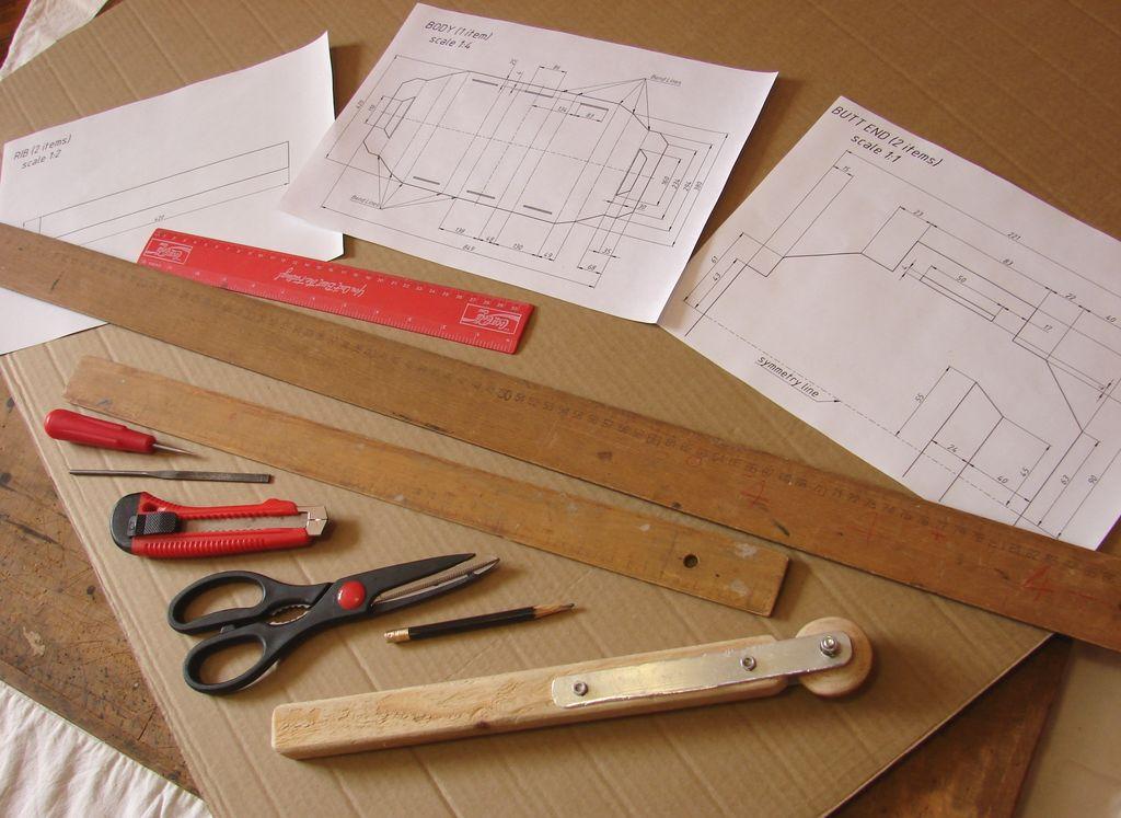 Инструменты для изготовления ящика из картона